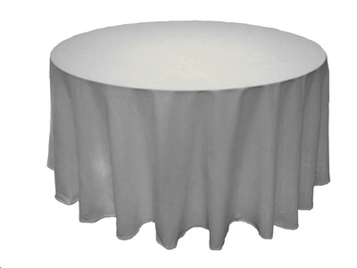 "120"" Round White Tablecloths 10 For Sale"