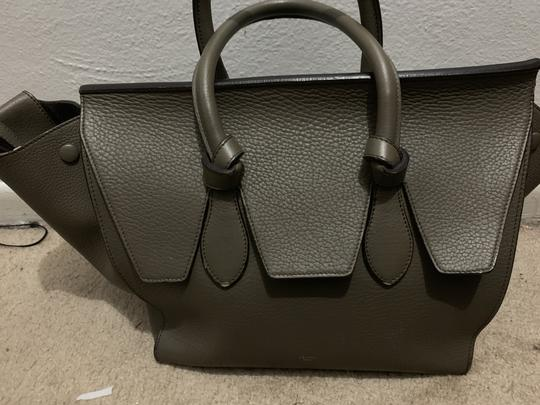 Céline Satchel in Army Green Image 8