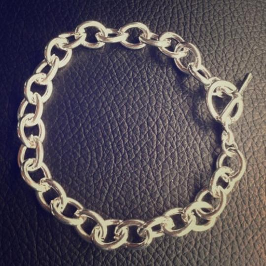 Elliot Francis Silver Plated Thick Chain Toggle Bracelet