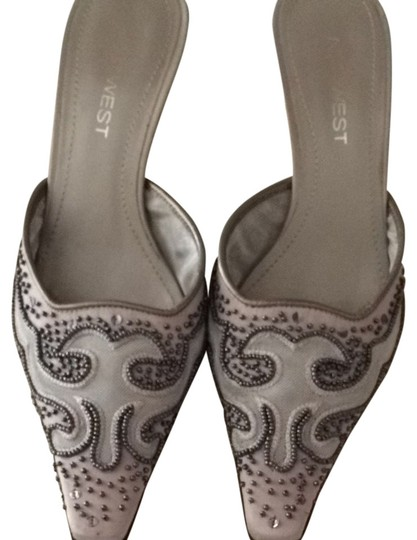 Nine West Grey Mules
