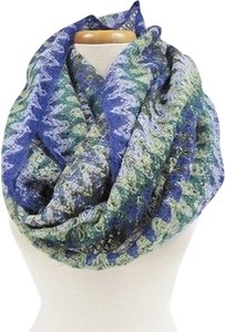 Missoni Womens Missoni Multi Purple Chevron Infinity Scarf