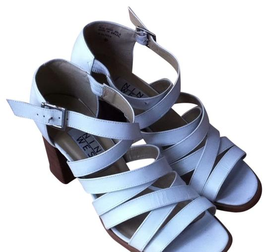 Nine West Strappy Anthropologie Urban Outfitters Vintage White Sandals