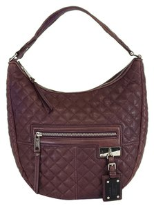 L.A.M.B. Plum Quilted Leather Shoulder Bag