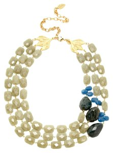 David Aubrey David Aubrey Multi Strand Green Agate Bib Necklace