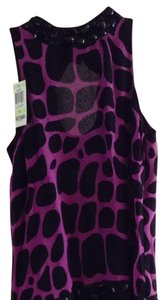 INC International Concepts Top Black& Purple
