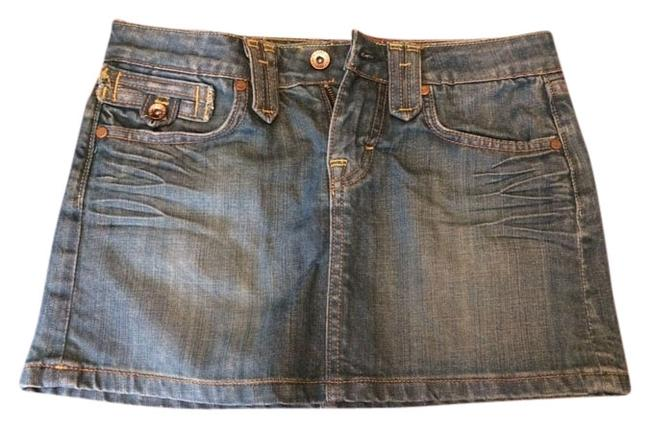 Guess Denim Mini Denim Mini Skirt Blue