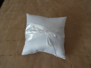 Victoria Lynn White Ring Bearer Pillow