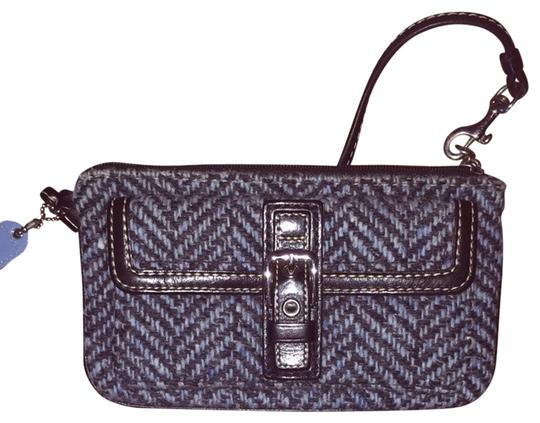 Coach Wristlet in Black And Blue