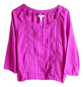 Aropostale Juniors Dressy Casual Ribbed Top Purple