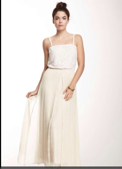 White-light Taupe Maxi Dress by Mystree