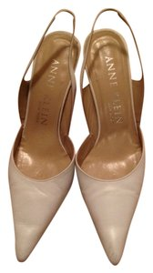Anne Klein Sling Backs White leather & tan heel Pumps