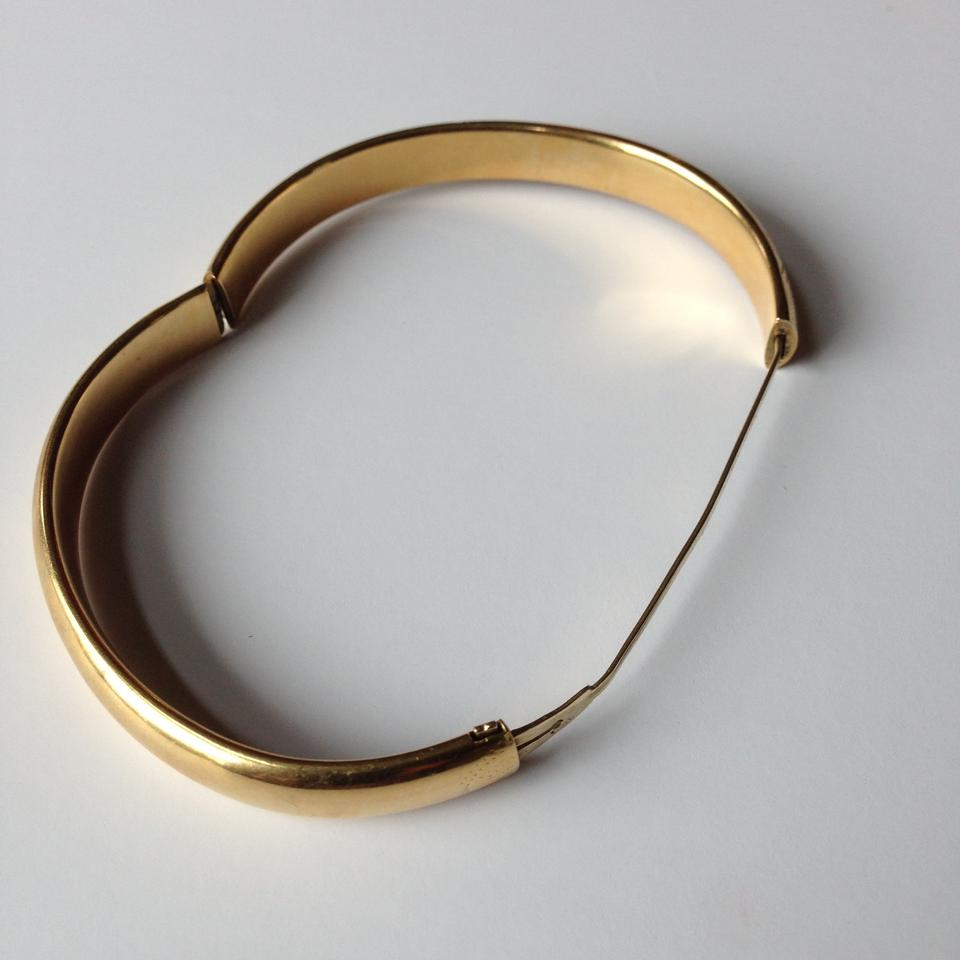 Unknown Vintage 14k Yellow Gold Hinged Bangle Bracelet 12345678