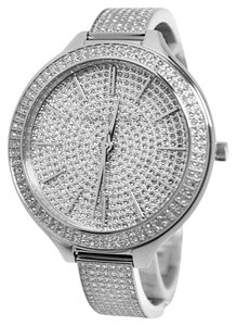edba8d810664 Michael Kors BRAND NEW WITH TAG Micheal Kors Silver Slim Runway Pave GLITZ  Watch
