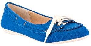 Penny Loves Kenny Sneaker Fabric Blue Flats