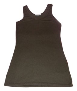 James Perse Standard Ribbed Top Dark brown