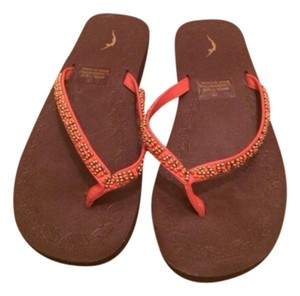 American Eagle Outfitters Orange, Brown, Gold Sandals