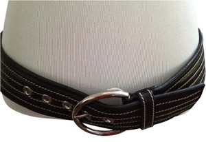 Prada PRADA BLACK VERY SOFT LEATHER BELT