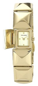 Vince Camuto RETURNING SOON--Gold-tone Pyramid Covered Link Bracelet Watch