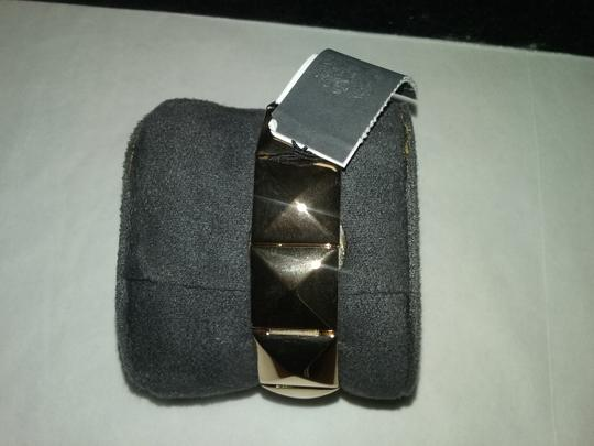 Vince Camuto RETURNING SOON- W/BONUS-Gold-tone Pyramid Covered Link Bracelet