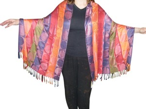Lotsa Fashions Multi-Color 100% Silk Pashmina Shawl