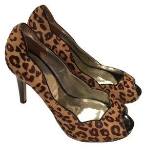 Guess Stelletos Animal Print Leopard Heels Open Toe Open Toe Leopard print Pumps