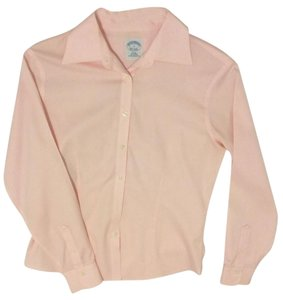 Brooks Brothers Fitted Dress Shirt Button Down Shirt Pink