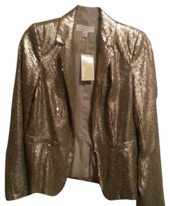 MICHAEL Michael Kors Sequins Gold Metallic Antique Brass Blazer