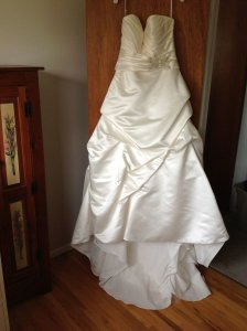 Casablanca A046 And Sa004 Sash Wedding Dress