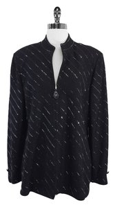 St. John Black Sequin Wool Jacket