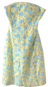 Lilly Pulitzer short dress Yellow, Blue, White, Purple Preppy Strapless Bandeau on Tradesy
