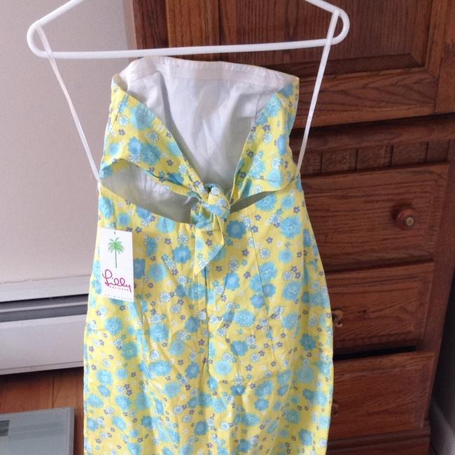 Lilly Pulitzer short dress Yellow, Blue, White, Purple Preppy Strapless Bandeau A-line on Tradesy