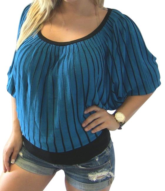 Other Striped Tunic Pinstripe Top Blue
