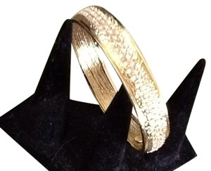 Paula Abdul Gold Tone And Crystal Bangle