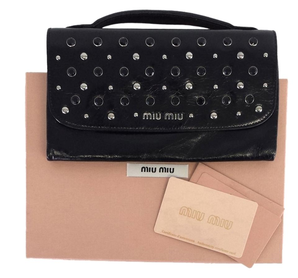 0076a04e59cb Miu Miu Black Leather Wallet | Stanford Center for Opportunity ...