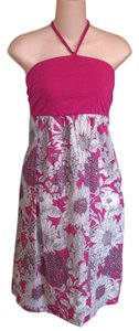 Liberty of London for Target short dress Cotton Floral Line Art Print Fuschia Halter Summer on Tradesy