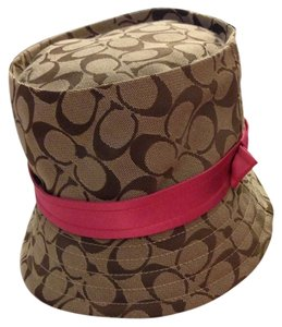 Coach Coach Signature Bucket Hat New With Tags
