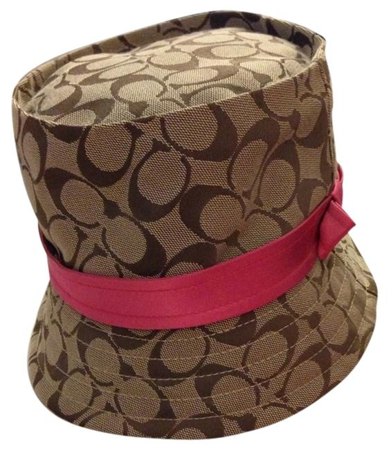 Item - Khaki/Pink Bucket Signature New with Tags Hat