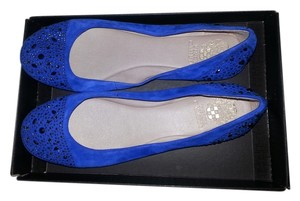 Vince Camuto Jeweled Suede New Designer Blue Flats