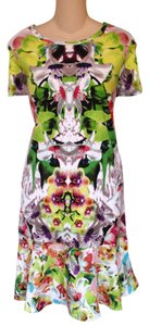 Prabal Gurung for Target short dress Bright Floral Orchid Print 60% Cotton 40% Modal Knit Summer on Tradesy
