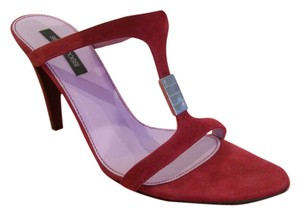 Sergio Rossi Suede Italy red Sandals
