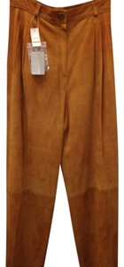 Gucci Suede Italy Chic Wide Leg Pants Brown