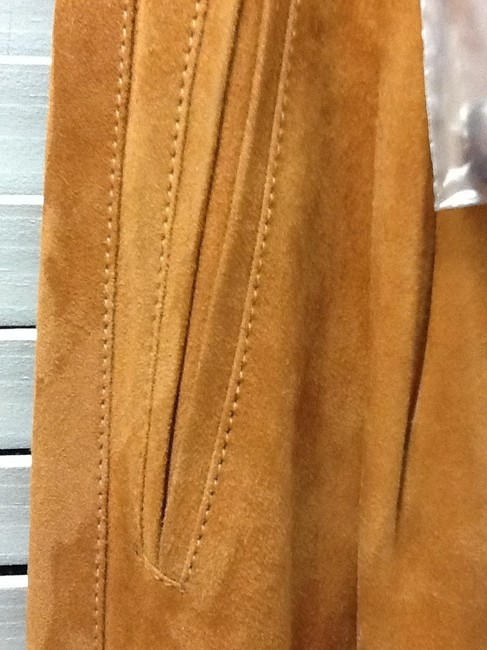 Gucci Suede Italy Chic Classic Pleaded Caramel European With Tags Wide Leg Pants Brown