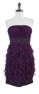 Sue Wong short dress Purple Beaded Ostrich on Tradesy