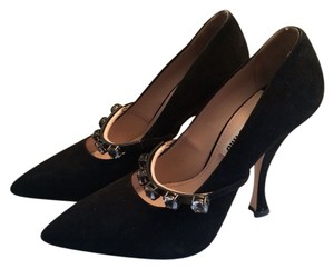 Miu Miu Mui Mui Suede Black Pumps