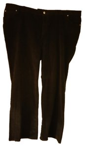 J. Jill Plus-size Corduroy Boot Cut Pants Black