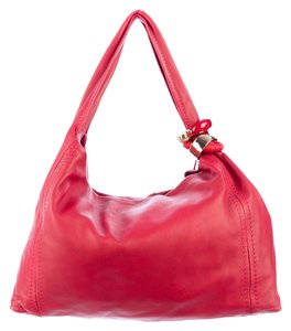 Jimmy Choo Lambskin Leather Gold Hardware Hobo Bag