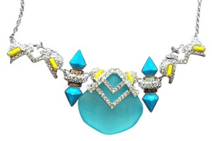 Alexis Bittar Aqua and yellow crystal necklace