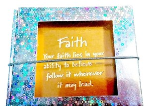 Macy's Friends and Family Holiday Jewelry Gift Box FAITH gold