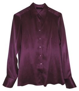 Pure Collection Button Down Shirt Purple