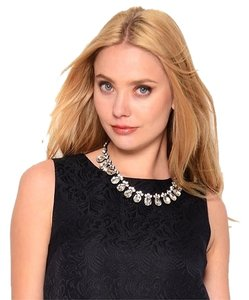 Other Trendy Classic Crystal Teardrop Bib Necklace Clear